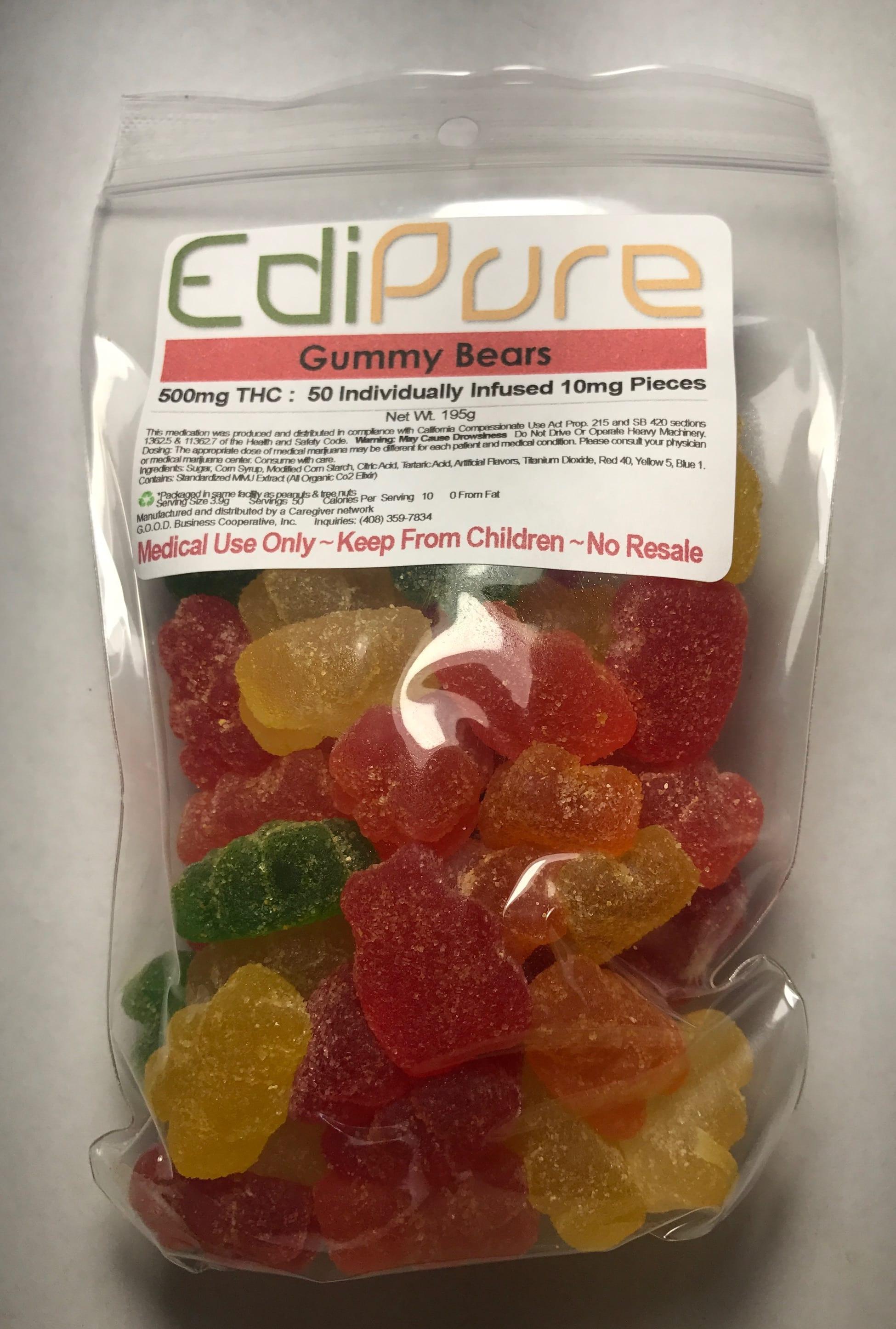 Gummy Bear Edible | Hybrid | 500mg Marijuana Edible