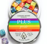 Plus Rainbow Sherbet gummy